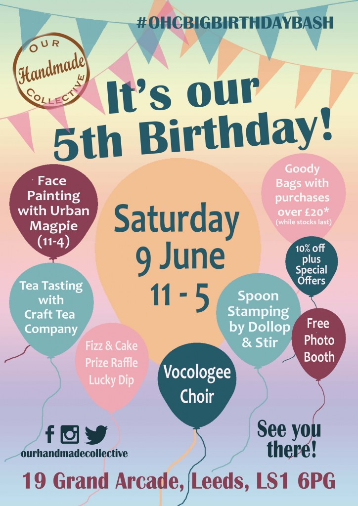 5th birthday flyer with balloons v3 - online