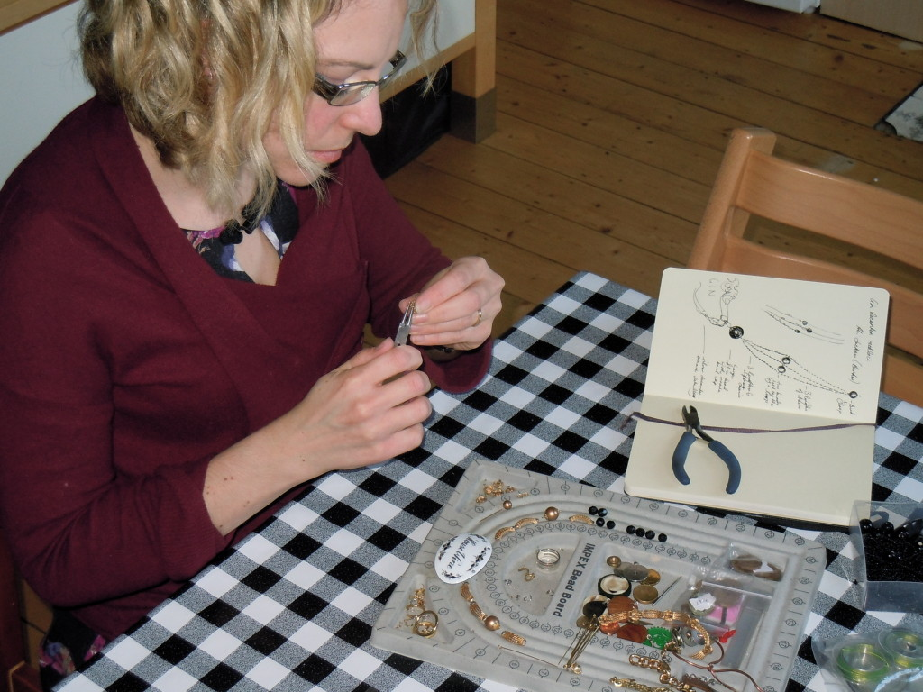 Recycled Jewellery Making
