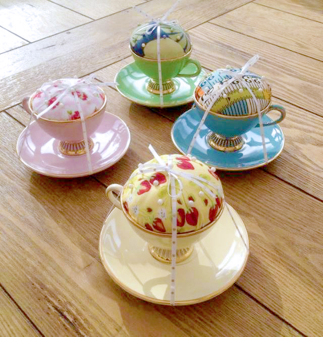 DIY Teacup Pin Cushion