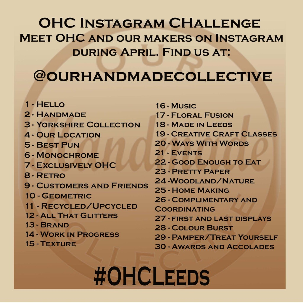 OHC instagram challenge April