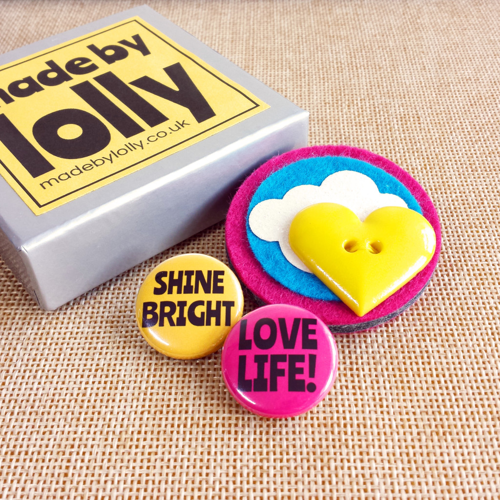 Shine Bright Love Life Sunshine Brooch IG